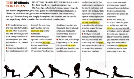 Yoga routines are easy to find online and require just some floor space to do!